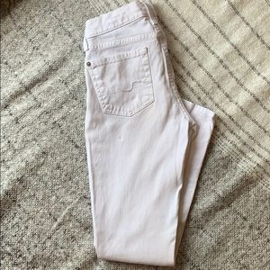 7 for all mankind white crop Jean (gwenevere)